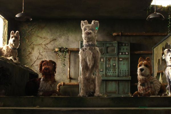 Film still from Wes Anderson's Isle of Dogs