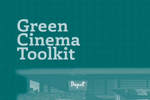 Grapic Image for ICO Green Cinema Toolkit, Green on green text of