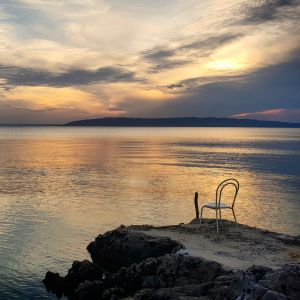 Chair by the seaside